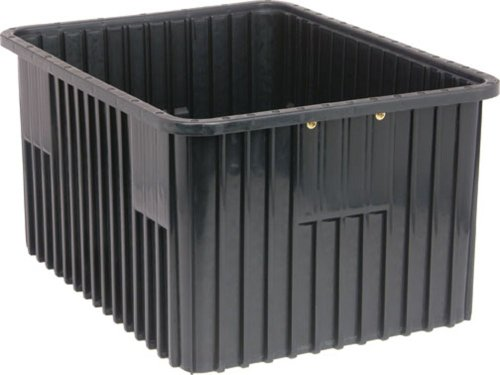 Quantum Storage Systems DG93120CO Dividable Grid Container 22-1/2-Inch Long by 17-1/2-Inch Wide by 12-Inch High, Black Conductive, 3-Pack by Quantum Storage Systems