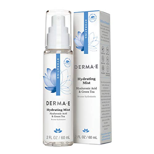DERMA E Hydrating Mist with Hyaluronic Acid, 2 Fl oz