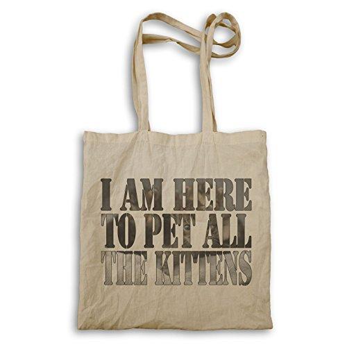 Ich bin hier, um alle Kätzchen zu pet Tragetasche u306r