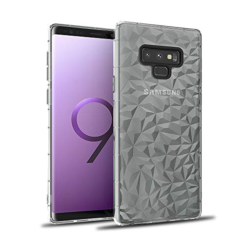 (Fusicase for Galaxy Note 9 Shockproof Case Soft TPU Rubber Bumper Protective Gel Cover with 3D Chic Design Geometric Diamond Pattern Textured Back for Galaxy Note 9 Case)