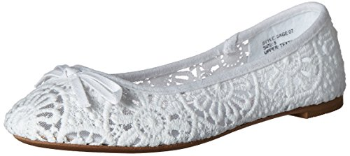 fb77380d5a02 Twisted Womens Sage Flower Crochet Ballet Flat with Bow