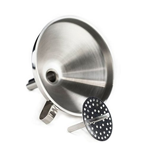 "Huji Stainless Steel 5"" Funnel with"