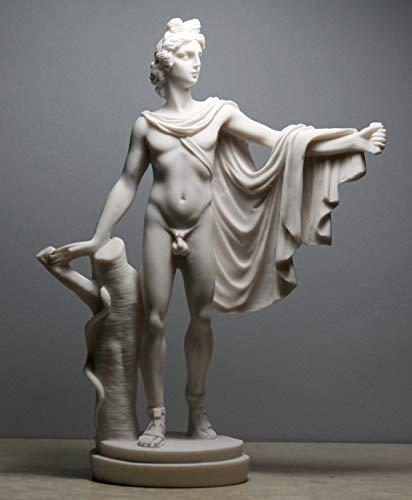 Apollo Belvedere Greek Roman God of Music Nude Male Cast Marble Statue ()