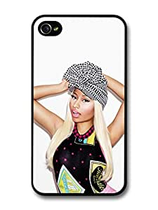 Nicki Minaj Portrait Posing with a Hat For Apple Iphone 5/5S Case Cover