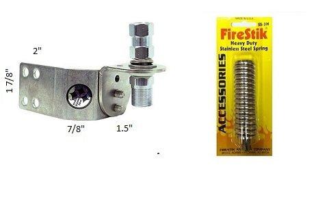 Firestik SS-204A Adjustable Stainless Steel Vertical Door Jamb Mount SS-3H Heavy Duty Spring by FireStik