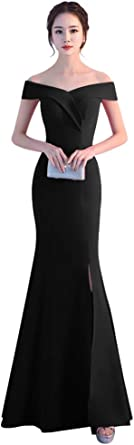 Womens Fancy Formal Elegant Iridescent Off-Shoulder Halter Bodycon Dress Gown
