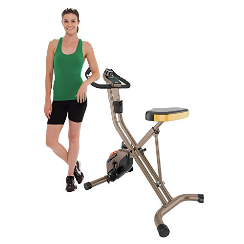Exerpeutic GOLD 500 XLS Foldable Upright Bike, 400 - Heavy Duty Bikes Exercise