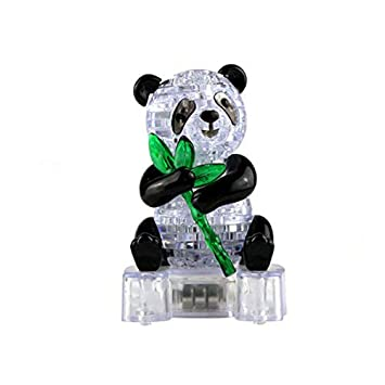 Coolplay DIY 3D Jigsaw Crystal Puzzle 58 Pieces Panda with Light-Up