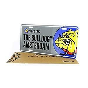 Placa de Matrícula gris + con sobre–The Bulldog