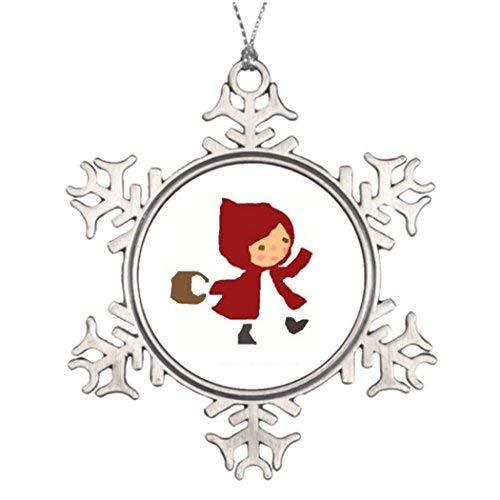 OneMtoss Christmas Snowflake Ornament Tree Branch Decoration Basket Girl