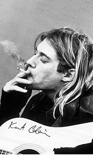 Kurt Cobain Inspirational Autograph Quote Beleive Motivation Poster Black White