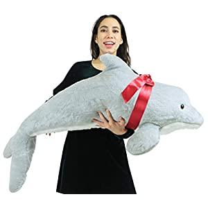 American Made Giant Stuffed Dolphin 46 Inch Soft Plush Made in USA - 41DKsJ 2BoRpL - American Made Giant Stuffed Dolphin 46 Inch Soft Plush Made in USA