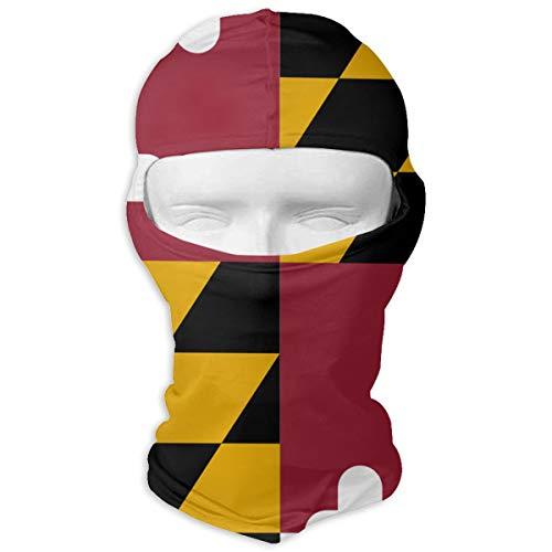 Sheery Maryland State Flag Ski Motorcycle Balaclava Mask Sunscreen Hat Windproof Cap