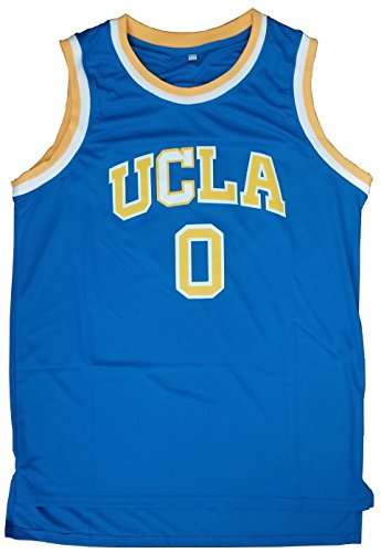 Kooy Westbrook  0 Ucla College Basketball Jersey Home Away White Blue  X Large  Blue