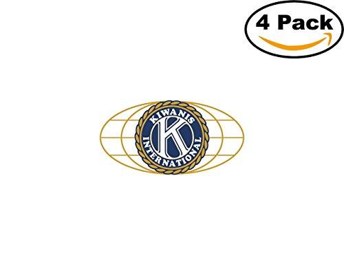 Kiwanis International 1 4 Stickers 4X4 inches Car Bumper Window Sticker Decal