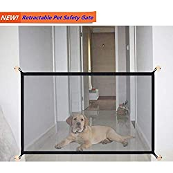 Magic Gate Portable Folding Safe Guard Gate Install Anywhere Pet Safety Enclosure Commercial Magic Gate As Seen On TV(L: 70.8 inches x W:28.5 inches,can be Adjustable)