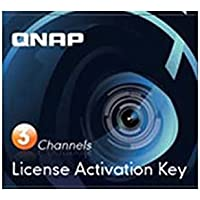 Qnap Camera License Activation Key for Surveillance Station Pro for QNAP NAS (LIC-CAM-NAS-3CH)