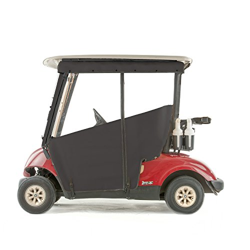 Yamaha G29 Drive Golf Cart PRO-TOURING Sunbrella Track Enclosure - Black-BLK -
