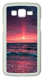 Samsung Galaxy Grand 2 Case - Pinkish Sunset PC Hard Case Cover For Samsung Galaxy Grand 2 / Samsung Galaxy 7106 - White