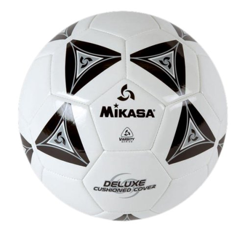 (Mikasa Serious Soccer Ball (Black/White, Size 4))