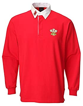9cc8de9980e Image Unavailable. Image not available for. Colour: Wales Welsh Baby  Traditional Rugby Shirt ...