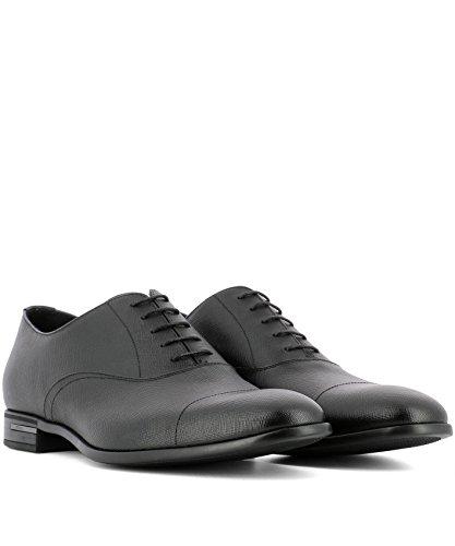 Prada Homme 2EC031053F0002 Noir Cuir Chaussures À Lacets