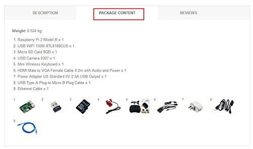 [Package C] Raspberry Pi 2 Model B 900MHz Quad-core ARM Cortex-A7 CPU 1GB RAM + USB WiFi Camera Mini Wireless Keyboard etc. @XYG