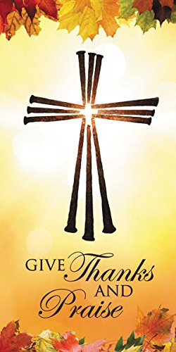 3x6 Banner Thanksgiving Cross by US Gifts