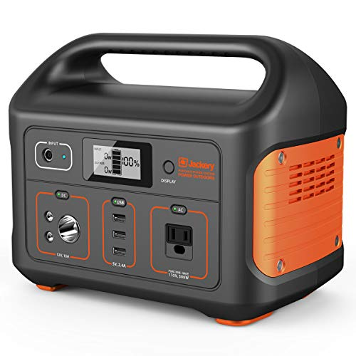 Jackery Portable Power Station Explorer 500, 518Wh Outdoor Mobile Lithium Battery Pack with 110V/500W AC Outlet, Solar-Ready Generator (Solar Panel Optional) RV Battery CPAP Power Outage Emergency Kit (Best Solar Generator For Rv)