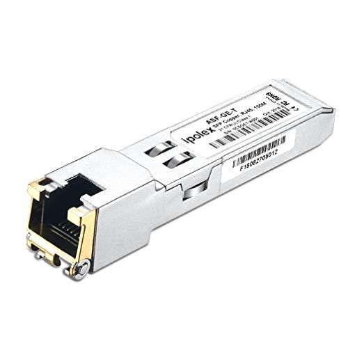 ipolex Compatible HPE JD089B/JD495A/JD089A/JC009A 1000BASE-T SFP Copper RJ-45 Transceiver Module, Mini-GBIC (CAT5e cable, 100-Meter)