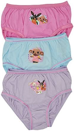 Girls Bing Kids Characters 100/% Cotton Briefs Underwear Slips Knickers 3 Pack