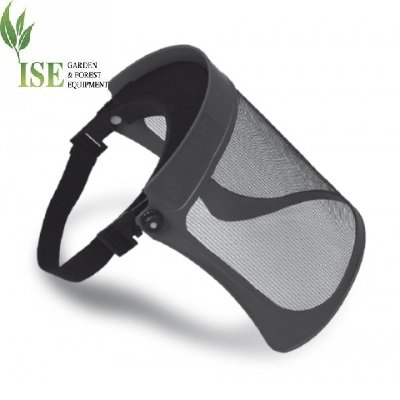 ISE Adjustable Face Shield for Brush Cutter with Metal Screen. Extra Light Metal Net Shield. Tecomec Part Number 5120901