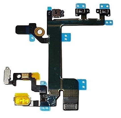 Sensor de Luz e Proximidad Conector Flex para Power ON Off Volumen Smartex Cable Interior por Boton de Encendido Compatible con iPhone 6 Plus Mudo