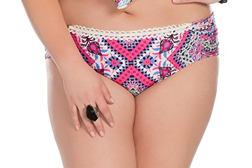 Becca-ETC-Womens-Plus-Size-Secret-Garden-Shirred-Hipster-Swim-Bottom-0X-BeccaEtc16Mlt
