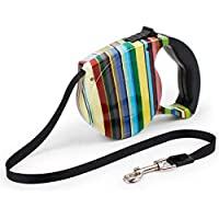 5 Metres Pet Dog Cat Automatic Retractable Traction Rope Walking Lead Leash (color wave bars)