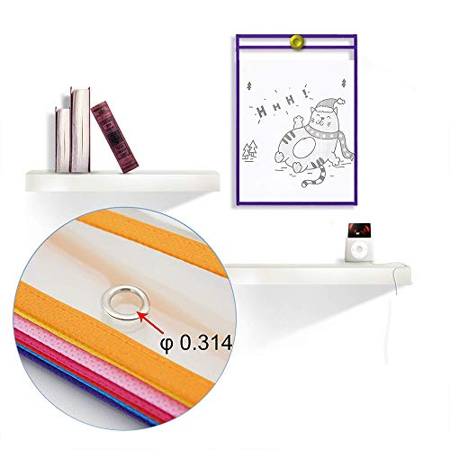 Dry Erase Pockets Oversize 10x14 Pockets Reusable Dry Erase Board Sleeves Assorted Colors Worksheet Sleeves Perfect for Classroom Organization Ideal for Office and School Work,24 Pack Photo #3