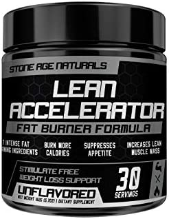Lean Accelerator - Extremely Powerful The First Muscle-Toning Fat Burner Thermogenic Weight Loss Supplement - Keto Friendly, Appetite Suppressant - Men and Women - Protein Pre-Workout ENHANCER