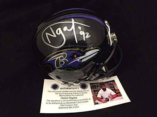 Haloti Ngata Autographed Signed Memorabilia Mini Helmet Baltimore Ravens Authentic Signature - Certified Authentic (Baltimore Signature Helmet)