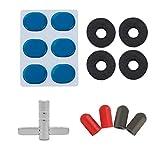 Healifty 4pcs Drum Accessories Dampening Pad Drumstick Tips Cover Cymbal Sleeves Drum Keys Muffler Parts (Ramdon Color)