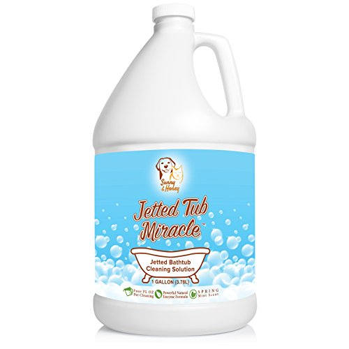 Jetted Tub Miracle - Jet Bath System Cleaner for Jacuzzi, Whirlpool, American Standard, Kohler (1 Gallon) by Sunny & Honey