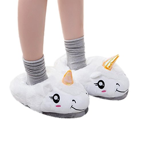 Gotd Girls Boys Plush Slipper Cartoon Creative Slippers Winter House Shoes (70s Cartoons Costumes)