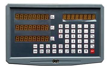 3 GOWE axis fresador cilíndrico máquina reloj digital: Amazon.es: Bricolaje y herramientas