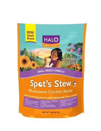 Halo Spot's Stew Natural Dry Wholesome Chicken for Small Breed Dogs, 4-Pound Bag, My Pet Supplies