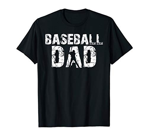 Baseball Dad T-Shirt Father Baseball Silhouette Gift Tee