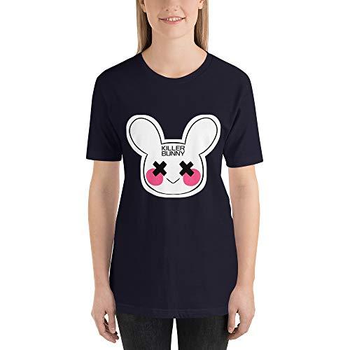 Killer Bunny Halloween Horror Women's T-Shirt, Bunny, Scary Bunny, Scary Rabbit, Halloween Party Navy]()