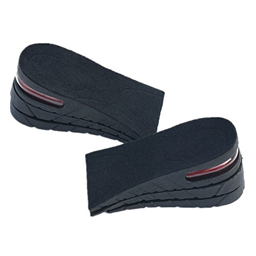 3-Layer Air up Height Increase Elevator Shoes Insole - 6 cm (2.4 inches) Heels Inserts for Men and Women