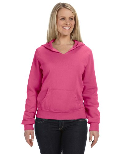(Comfort Colors - Ladies' Pigment-Dyed Frayed Hooded Pullover - 1595 - Raspberry - XX-Large)