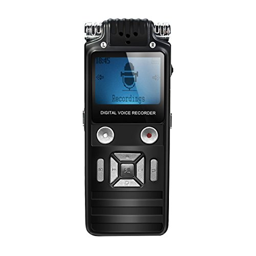 Digital Voice Recorder, EIVOTOR 8GB Digital Stereo Voice Recorder Digital Audio Recorder Voice Recorder with LCD Screen & MP3 Player Including Batteries, Micro USB Port, 8GB Internal Memory, Plug and Play for Class, Lectures, Conferences,Meetings or Interviews