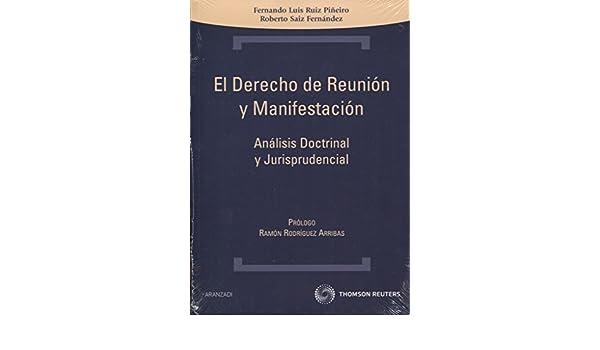 El Derecho de Reunion y Manifestacion: Analisis Doctrinal y Jurisprudencial: FERNANDO LUIS RUIZ PIÑEIRO: 9788499034881: Amazon.com: Books