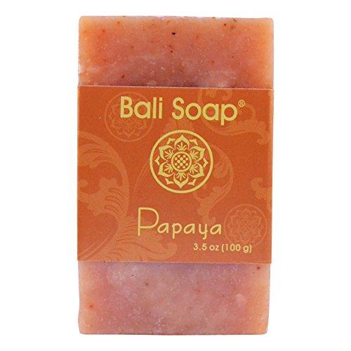 Bali Soap - Natural Bar Soap, Papaya, 3.5 Oz each (Pack of (Papaya Soap Bars)